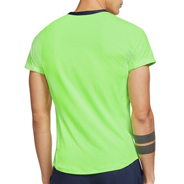 Nike Court Dri FIT ADV Rafa Shirt Mens Lime Glow/Obsidian CV2802 345