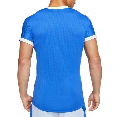 Nike Court Dri Fit Advantage Rafa Crew Shirt Mens Hyper Royal/Lime Glow/White CV2802 405