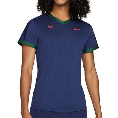 Nike Court Dri Fit Advantage Rafa Shirt Mens Binary Blue/Gorge Green/Chile Red CV2802 429