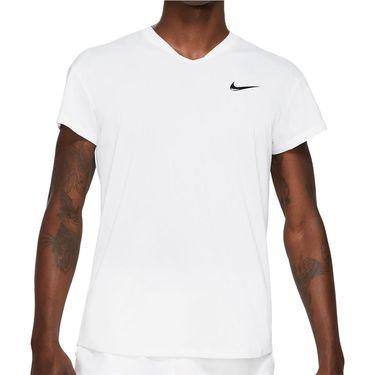 Nike Court Breathe Slam Crew Shirt Mens White/Black CV2814 100