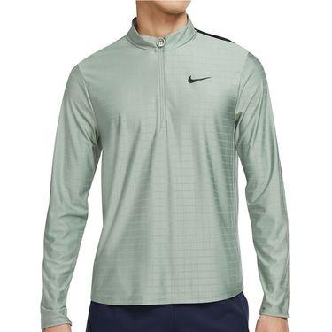 Nike Court Breathe Advantage 1/2 Zip Jacket Mens Jade Smoke/Obsidian/Black CV2866 357