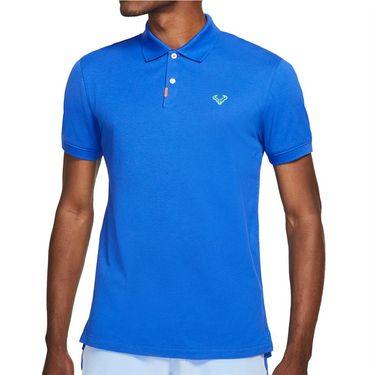 Nike The Nike Rafa Polo Shirt Mens Hyper Royal/Lime Glow CV2969 405