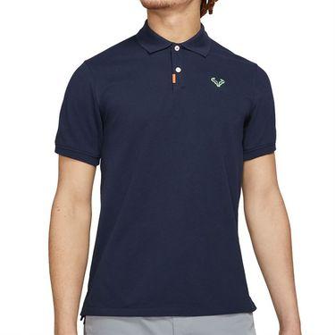 Nike Rafa The Nike Polo Shirt Mens Obsidian/Lime Glow CV2969 451