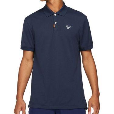 Nike The Nike Rafa Polo Shirt Mens Obsidian/White CV2969 452