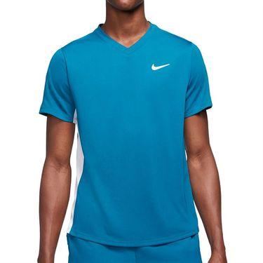 Nike Court Dri FIT Victory Shirt Mens Green Abyss/White CV2982 301