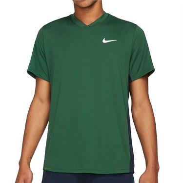 Nike Court Dri FIT Victory Shirt Mens Gorge Green/Obsidian/White CV2982