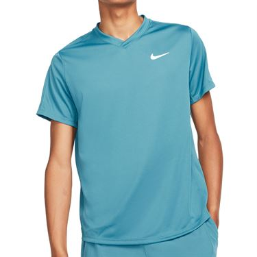Nike Court Dri FIT Victory Shirt Mens Rift Blue/White CV2982 415