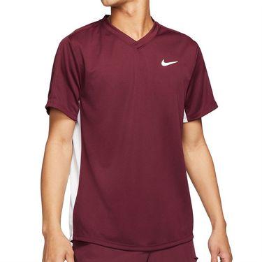 Nike Court Dri FIT Victory Shirt Mens Dark Beetroot/White CV2982 638