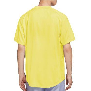 Nike Court Dri FIT Victory Shirt Mens Light Zitron/Black CV2982 712