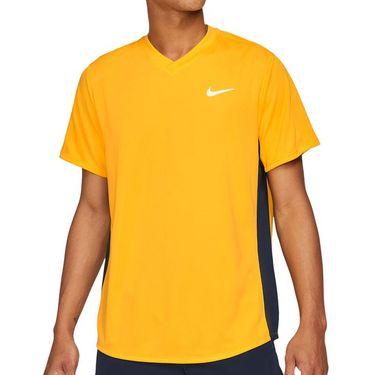 Nike Court Dri FIT Victory Shirt Mens University Gold/Obsidian/White CV2982 739