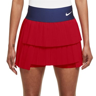 Nike Court Advantage Skirt Womens University Red/Binary Blue/White CV4678 657