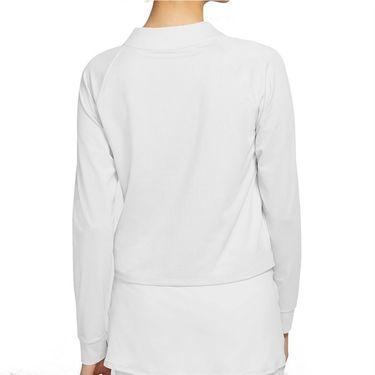 Nike Court Dri FIT Victory Long Sleeve Top Womens White/Black CV4697 100