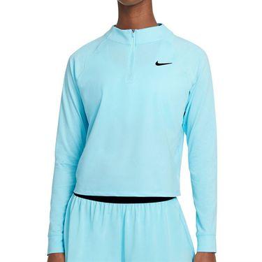 Nike Court Dri FIT Victory Long Sleeve Top Womens COPA/Black CV4697 482