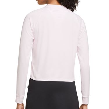 Nike Court Dri FIT Victory Long Sleeve Top Womens Regal Pink/Black CV4697 695