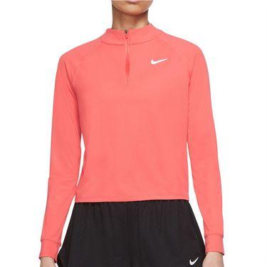 Nike Court Dri FIT Victory Long Sleeve Top Womens Magic Ember/White CV4697 814