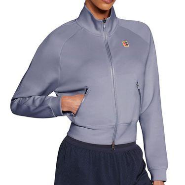 Nike Court Heritage Full Zip Jacket - Indigo Haze/White