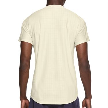 Nike Court Breathe Advantage Shirt Mens Coconut Milk/Black CV5032 113