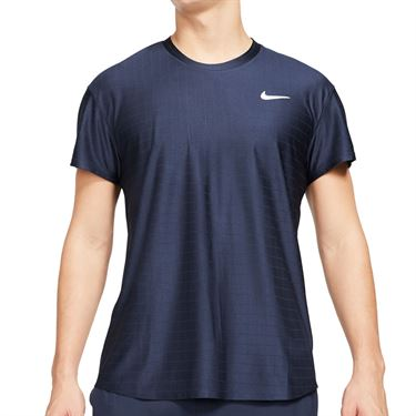 Nike Court Breathe Advantage Shirt Mens Obsidian/White CV5032 451