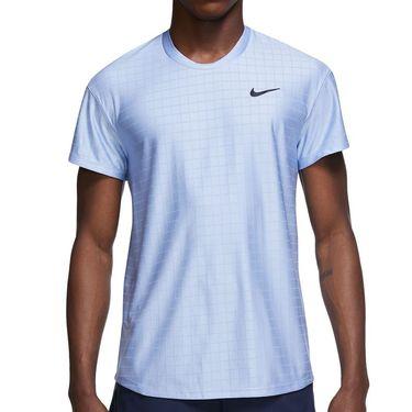 Nike Court Breathe Advantage Shirt Mens Aluminum/Black CV5032 468