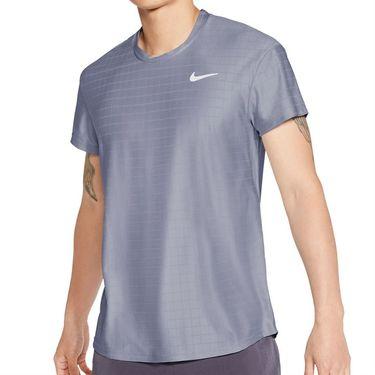 Nike Court Breathe Advantage Shirt Mens Indigo Haze/White CV5032 519