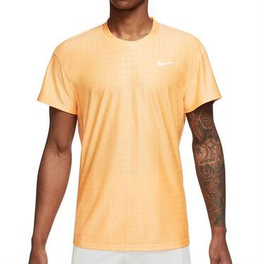 Nike Court Breathe Advantage Shirt Mens Peach Cream/White CV5032 811