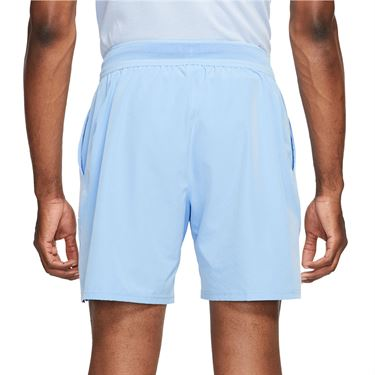 Nike Court Dri FIT Advantage Short Mens Aluminum/Black CV5046 468