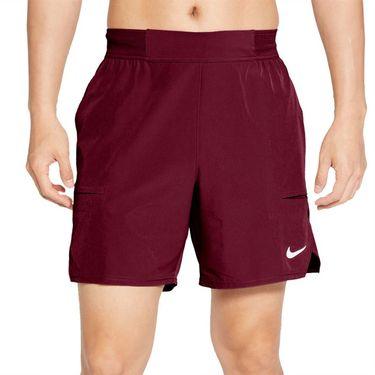 Nike Court Advantage 7 Inch Short - Dark Beetroot/White