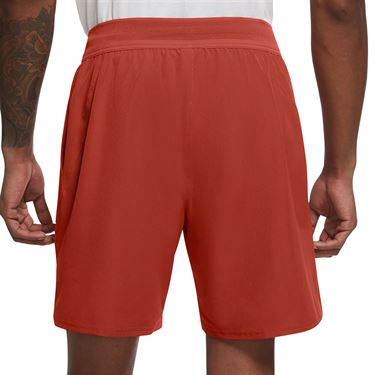 Nike Court Dri FIT Advantage Short Mens Cinnabar/White CV5046 671