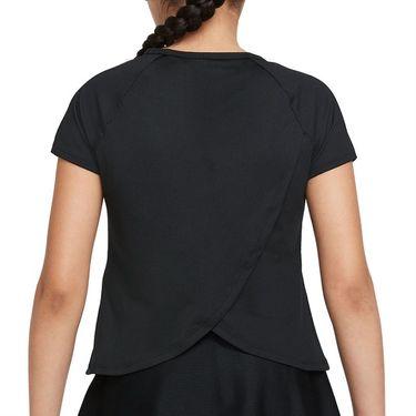 Nike Court Girls Dri Fit Victory Top Black/White CV7567 011