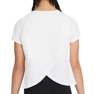 Nike Court Girls Dri Fit Victory Top White/Black CV7567 101