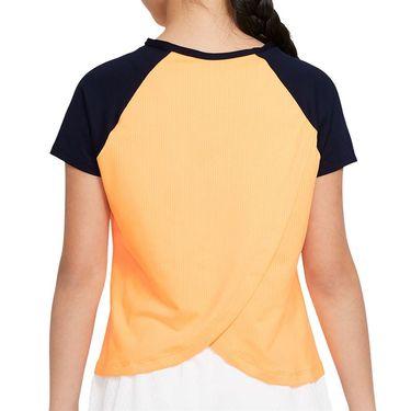 Nike Court Girls Dri Fit Victory Top Peach Cream/Obsidian/White CV7567 811