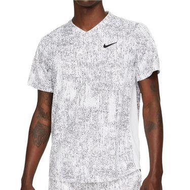 Nike Court Dri FIT Victory Shirt Mens White/Black CV7858 100