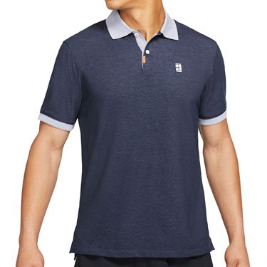 Nike The Nike Polo Slam Shirt Mens Obsidian/Indigo Haze CV7876 451