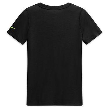 Nike Boys Court Dri Fit Rafa Tee Shirt Black/Volt CW1521 010