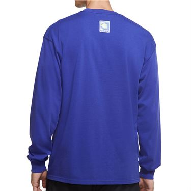 Nike Court Long Sleeve Tee Shirt Mens Light Concord CW1530 471