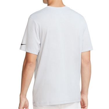 Nike Rafa Tee Shirt Mens Sky Grey/Black CW1534 042