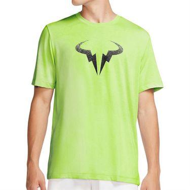 Nike Court Dri Fit Rafa Tee Shirt Mens Volt/Black CW1534 702