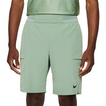 Nike Court Dri FIT Advantage Short Mens Jade Smoke/Black CW5944 357