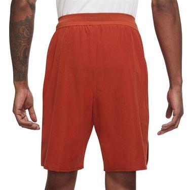 Nike Court Dri FIT Advantage Short Mens Cinnabar/White CW5944 671