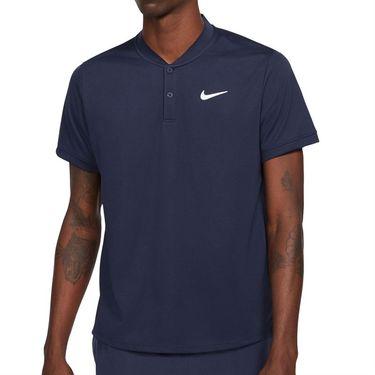 Nike Court Dri FIT Shirt Mens Obsidian/White CW6288 451