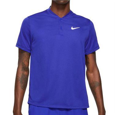 Nike Court Dri FIT Shirt Mens Concord/White CW6288 471