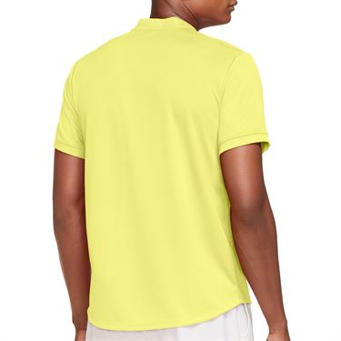 Nike Court Dri FIT Shirt Mens Light Zitron/White CW6288 712