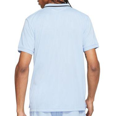 Nike Court Dri FIT Victory Polo Shirt Mens Aluminum/Black CW6848 468