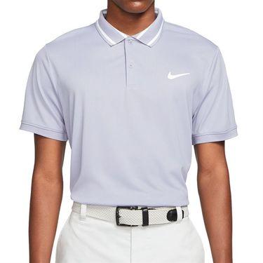 Nike Court Dri FIT Polo Shirt Mens Indigo Haze/White CW6848 519