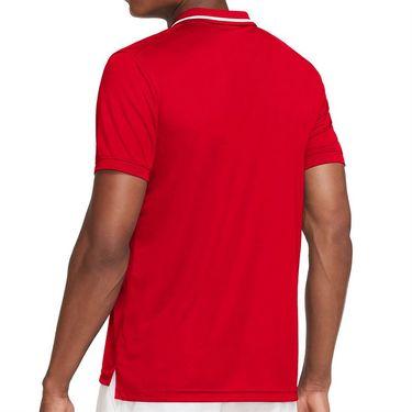 Nike Court Dri FIT Victory Polo Shirt Mens University Red/White CW6848 657