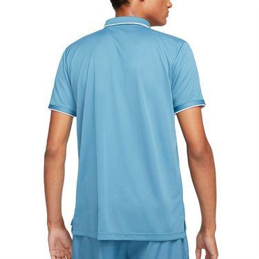 Nike Court Dri FIT Victory Polo Shirt Mens Rift Blue/White CW6849 415