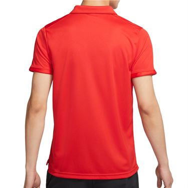 Nike Court Dri FIT Victory Polo Shirt Mens University Red/White CW6849 657