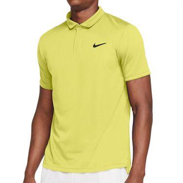 Nike Court Dri FIT Victory Polo Shirt Mens Light Zitron/Black CW6849 712