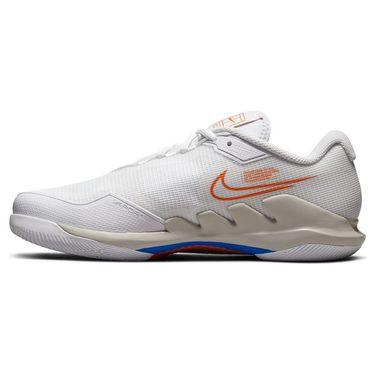 Nike Court Air Zoom Vapor Pro Womens Tennis Shoe White/Sunset/Light Bone/Racer Blue CZ0222 110