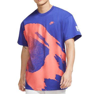 Nike Court Crew Shirt Mens Light Concord CZ9602 432